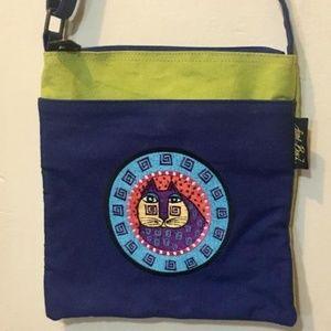 Laurel Burch Crossbody Embroidered Cat Bag Purse